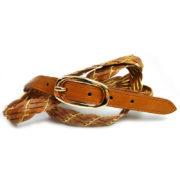 Cintura donna intrecciata in cuoio 299-12