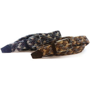 Men's Belt: Braided mélange belt -1154